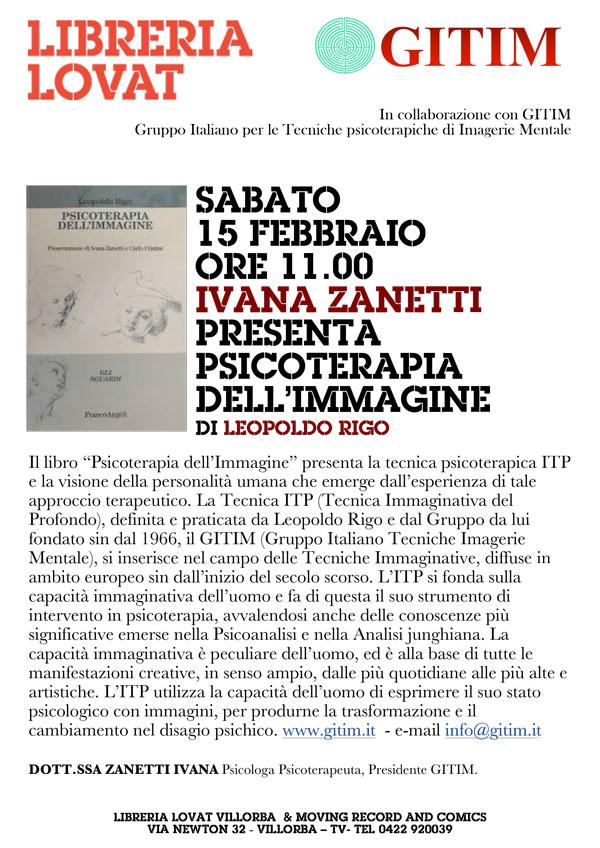 """presentazione libro """"Psicoterapia dell'immagine"""" Leopoldo Rigo libreria Lovat, Villorba, Treviso"""
