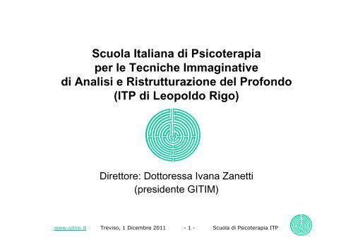 scuola italiana psicoterapia tecniche immaginative